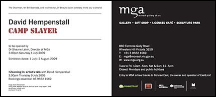 MGA exhibition invitation-Camp Slayer