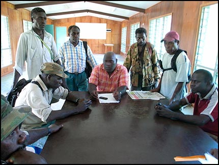 Members of the Siwai delegation