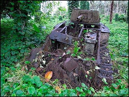 Type 89 Japanese tank, North Bougainville