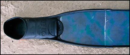 Damaged fin blade