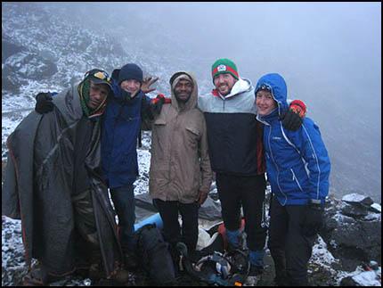 Snow on the side of Mt Wilhelm 2008 (c) Mark Clark