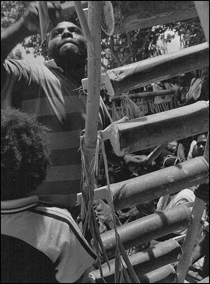 Drummer at Kessa, Buka, Bougainville