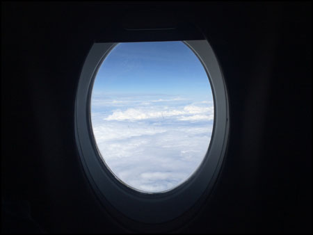 out plane window