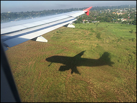 landing in Yangon